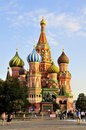 St Basil`s church in Moscow Stock Photos