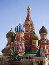 St. Basil's (Pokrovskiy) cathedral, Moscow Stock Photography