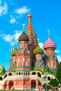 St Basils cathedral on Red Square in Moscow Royalty Free Stock Image