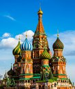 St basils cathedral on red square in moscow Stock Images
