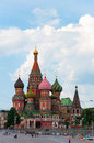 St Basils cathedral on Red Square in Moscow Russia Royalty Free Stock Photo