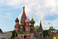 St basils cathedral on red square in moscow russia the Stock Image