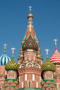 St basils cathedral red square moscow russia in was built from – on orders from ivan the terrible and commemorates the capture Royalty Free Stock Image