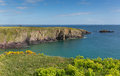 St brides bay pembrokeshire west wales uk near st davids and in the coast national park the coast path passes Stock Image