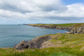 St brides bay west wales uk coast path pembrokeshire near from caerfai to non s in the coast national park towards ramsey island Stock Image