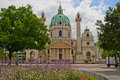 The St. Charles's Church (Vienna, Austria) Royalty Free Stock Image