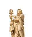 St clare of assisi colonnade saints vatican statue Royalty Free Stock Photos