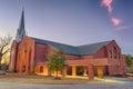 St columba catholic church dothan alabama in at sunset hdr processed Royalty Free Stock Images