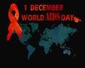 1st December World Aids Day concept