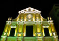 St. Dominic's Church in Macau at night. Stock Photos