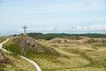 St Dwynwen`s Cross, Llanddwyn Island in Anglesey
