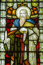 St elisha stained glass window victorian of saint historic on public display over years Royalty Free Stock Photos