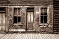 St elmo ghost town in colorado one of the old abandoned general store fronts the historic of closeup of doors windows and the Royalty Free Stock Image