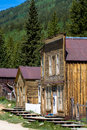 St elmo ghost town old storefronts in in the colorado rockies Royalty Free Stock Photo