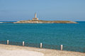 St. Eufemia Lighthouse. Vieste. Puglia. Italy. Royalty Free Stock Photo