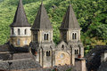The st foy abbey in conques france june is a popular stop for pilgrims on their way to santiago de compostela main Stock Photography