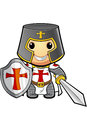 St george cartoon knight Lizenzfreies Stockbild