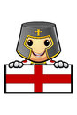 St george cartoon knight Fotos de Stock