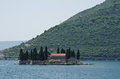 St. George island near Perast Stock Image