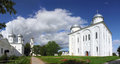 St george monastery in veliky novgorod panorama of russia Royalty Free Stock Photos