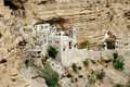 St george orthodox monastery located in wadi qelt in the eastern west bank in the palestinian Stock Photos