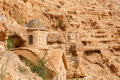 St. George Orthodox Monastery is located in Wadi Qelt. Royalty Free Stock Photo