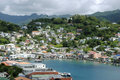 St george s harbour in grenada inner Stock Photos