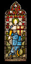 St george in stained glass window of michael and all angels church hughenden high wycombe buckinghamshire england Stock Photos