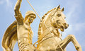 St george statue at freedom square tbilisi georgia Stock Photo