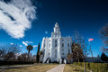 St. George Utah Temple Royalty Free Stock Photo