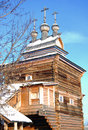 St george the victorious church wooden in kolomenskoye moscow russia in winter Royalty Free Stock Photo