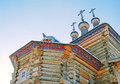 St george the victorious church wooden in kolomenskoye moscow russia in winter Stock Photo