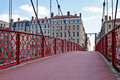 St Georges foot-bridge in Lyon Royalty Free Stock Photography