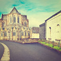 St hubert cathedral of in belgium instagram effect Stock Photography