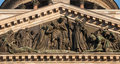 St isaac s cathedral sculptures adorning the gable in petersburg Royalty Free Stock Images