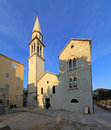 St ivan church saint with bell tower in budva montenegro Stock Photos