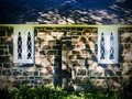 St James Church. Two windows and tree shadows. Royalty Free Stock Photo