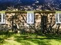St James Church. windows and tree shadows. Royalty Free Stock Photo