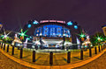 St january charlotte nc usa night view of carolina p panthers stadium Royalty Free Stock Photos