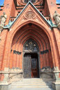 St johannes church in central stockholm detail main entrance Royalty Free Stock Photography