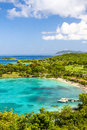 St john usvi gorgeous caneel bay a view from above world famous beach and resort on the island of in the us virgin islands is a Stock Image