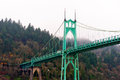 St Johns bridge Portland Oregon arches gothic style Royalty Free Stock Photo