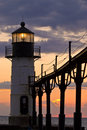 St. Joseph Light House at Dusk Royalty Free Stock Photo