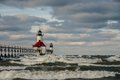 St. Joseph North Pier Lighthouse Royalty Free Stock Photo