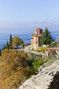 St. Jovan Church on Lake Ohrid, Macedonia Royalty Free Stock Photo
