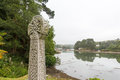 St Just in Roseland Church looking to the estuary Royalty Free Stock Photo