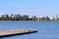 St kilda albert park melbourne apartment view from australia Stock Photos