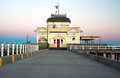 St kilda pavilion on sunrise a photo of a pier in melbourne australia Royalty Free Stock Photos