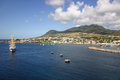 St kitts a view of the port of basseterre in west indies Royalty Free Stock Images