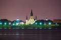 St. Louis Cathedral in the French Quarter, New Orleans, Louisian Royalty Free Stock Photo